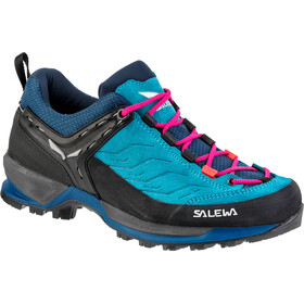 Salewa MTN Trainer Shoes Women Blue Sapphire/Red Plum